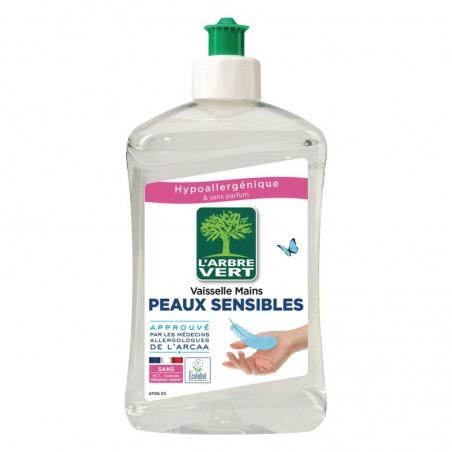 Liquide vaisselle et mains écologique Peaux Sensibles 500ml ARBRE VERT