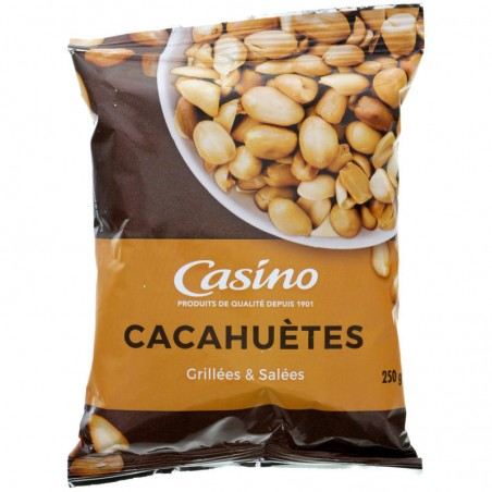 Cacahuètes grillées et salées 250g Casino 250g CASINO