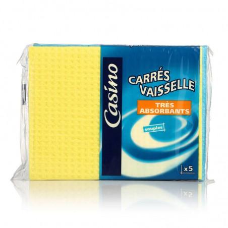 Carrés vaisselle x5 CASINO