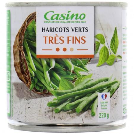 Haricots verts très fins 220g CASINO