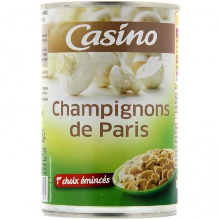 Champignons de Paris 1er choix émincés 400g CASINO