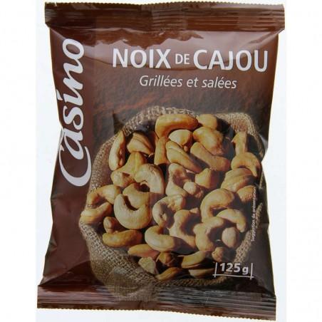 Noix de cajou grillées et salées 125g CASINO