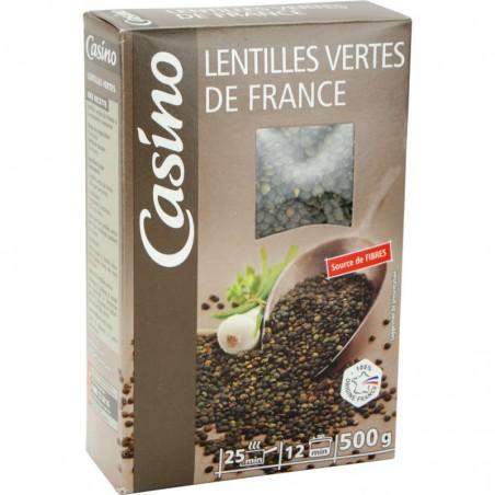 Lentilles vertes de France 500g CASINO