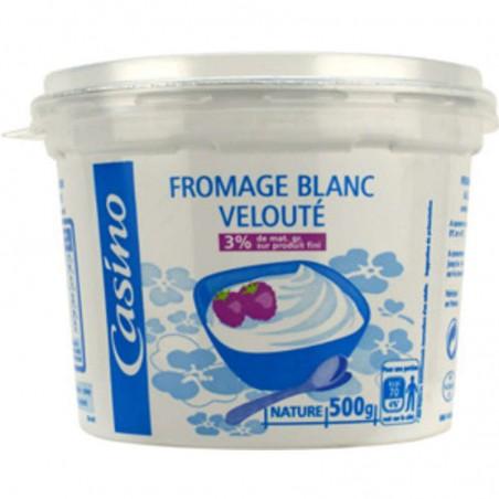 Fromage blanc velouté 3% de matières grasses sur produit fini 500g CASINO