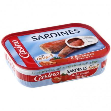 Sardines à la sauce tomate 135g CASINO