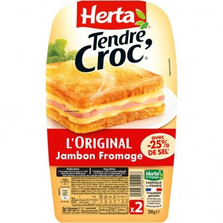 Croque monsieur sel réduit-Tendre croque 2x100g HERTA