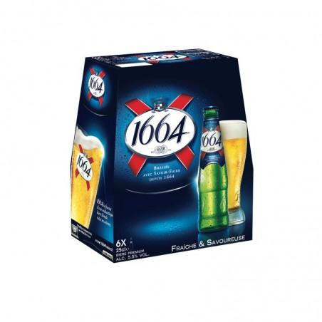 Bière blonde 1664 5.5° 6x25cl KRONENBOURG