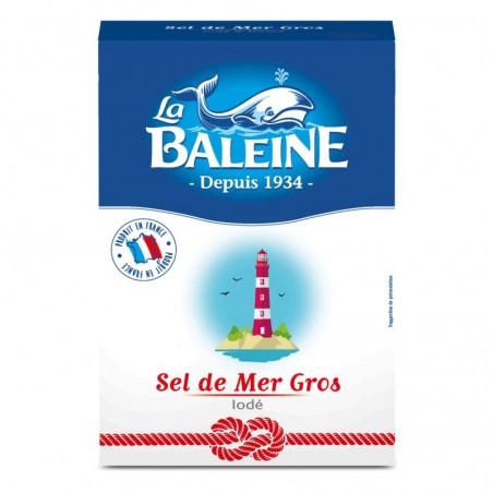 Gros sel de mer iodé 1Kg LA BALEINE
