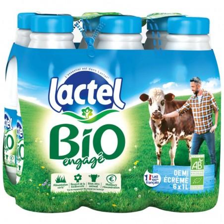 Lait Demi-écrémé Bio 6x1L LACTEL