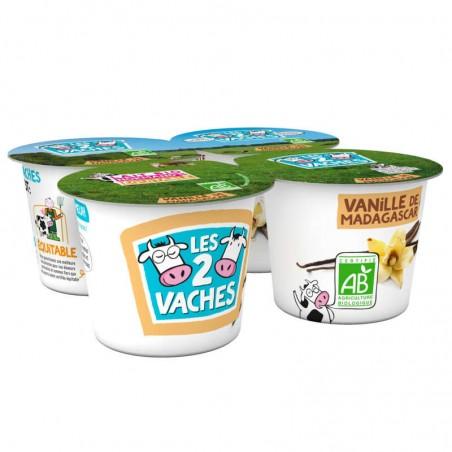 Yaourt Vanille Bio 4x115g LES 2 VACHES