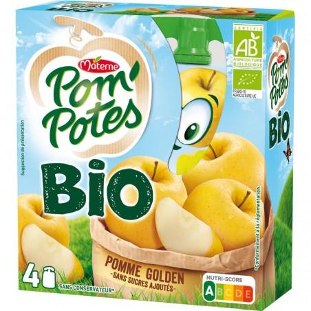 Pom'Potes Pomme Bio 4x90g MATERNE
