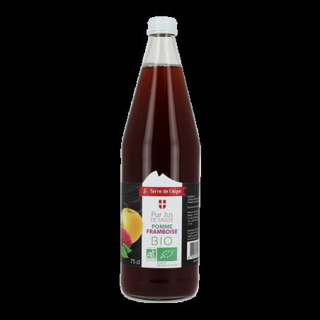 Pur jus de pomme et framboise Bio La bouteille de 75cl TERRE DE L'ALPE