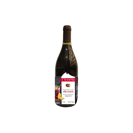 Préparation pour Vin chaud La bouteille de 75cl TERRE DE L'ALPE