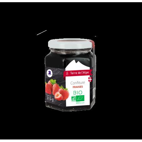 Confiture de fraise Bio Le pot de 315g TERRE DE L'ALPE