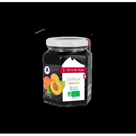 Confiture d'abricot Bio Le pot de 315g TERRE DE L'ALPE