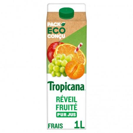 Orange Mandarine Raisin blanc 100% pur jus - 1l 1L TROPICANA